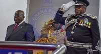President Nana Addo Dankwa Akufo-Addo and IGP, James Oppong Boanuh