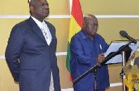 Boakye Agyarko(L) and President Akufo-Addo(R)