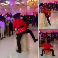 'Asa bone' military officer who twerked on wife at own wedding reception