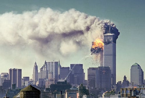 The bombing of the twin towers on Sepetember 11 2001