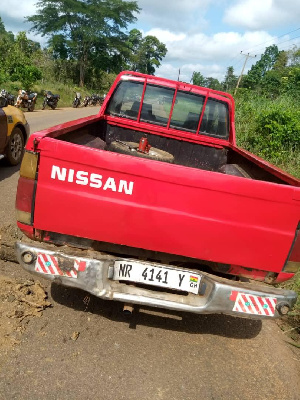 A vehicle that was involved in the accident