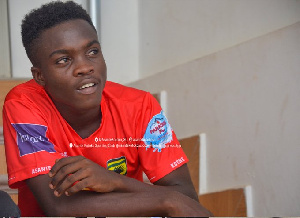 Mathew Anim Cudjoe made his debut with Asante Kotoko in the GPL