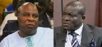 Mr Ishmael Ashitey (L) and Mr Titus Glover (R)