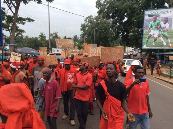 The planned demonstration by the Alliance for Responsible Citizens has been postponed
