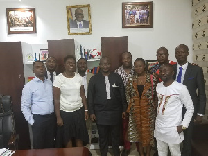 Officials of HOPE campaign with Deputy Chief of Staff, Francis Asenso-Boakye