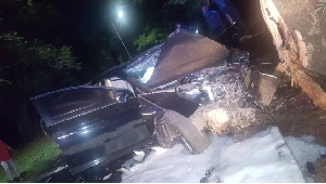 The vehicle which claimed the son of MP for Nalerigu-Gambaga