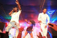 Shatta Wale on stage at 2015 Tigo Unplugged in Kumasi