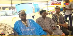Some chiefs at the open forum held Agbogbloshie market