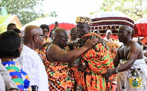 President Akufo-Addo and Okyehene Amoatia Ofori Panin II
