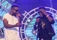 Sarkodie and Shatta Wale at Rapperholic