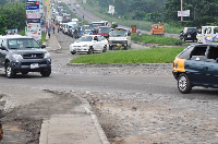 The Ejisu roundabout creates massive vehicular traffic in Kumasi