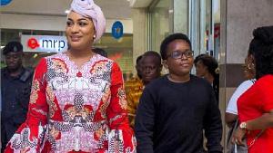 Second Lady Samira Bawumia and son