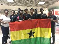 Ghana's swimming team