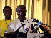 Finance Minister, Ken Ofori Atta delivering his address at the launch of GRA's National Tax Campaign