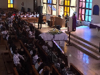 The burial service for the late Franky Kuri took place at Prince of Peace church in Kwashieman