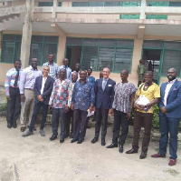 The Marche Region delegation in a picture with MP for Shama and members of the district assembly