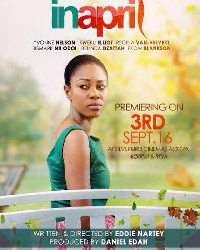 Yvonne Nelson on cover of 'In April'