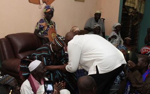 Nana Akufo-Addo with the Yagbonwura