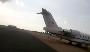 Ursula Owusu campaigns in the North with private jet