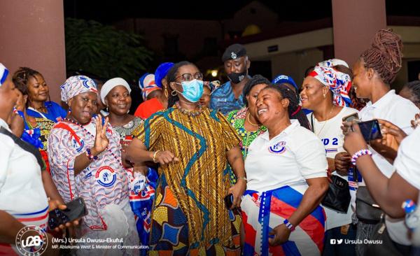 Ursula receives \'giant\' welcome in Bolgatanga