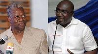 Amissah-Arthur(L) and Dr. Mahamudu Bawumia