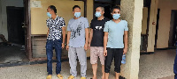 The four Chinese nationals were arrested for engaging in galamsey activities