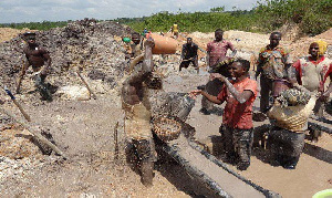 President Akufo-Addo has declared war on the galamsey menace in the country