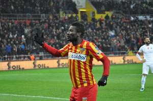 Gyan got his first league goal for Kayserispor this weekend