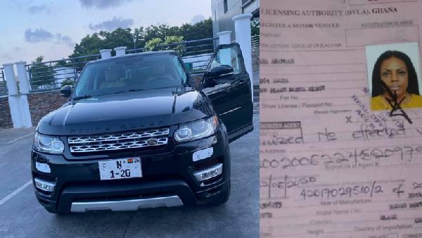Nana Aba Anamoah received the Range Rover as a birthday present