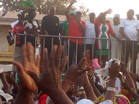 Vice President Kwesi Amissah-Arthur rally at the Aboabo Market Complex