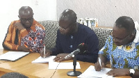 Representatives of Ghana Chamber of Mines and the Ghana Standards Authority signing MoU