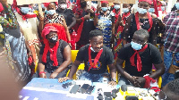 The irate youth addressed a press conference to express their greivances