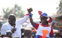 Nana Akufo-Addo, NPP Flag bearer (R) and Ursula Owusu-Ekuful (L)