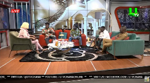 Nana Ama McBrown with the guest on the show