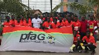 PFAG boss, Tony Baffoe with players of Kotoko