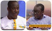 Nana Fredua Ofori-Atta [R] claims Mr Loh [L] called him a 'thief'