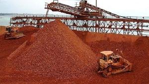 File photo of a bauxite mine