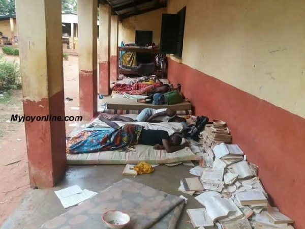 Some students sleep outside due to lack of space in dormitories