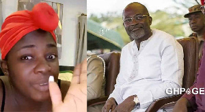 Actress Tracey Boakye and MP for Assin Central constituency, Kennedy Agyapong