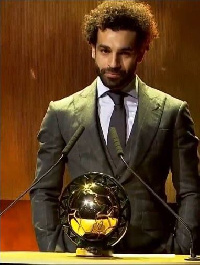 Mohammed Salah with his second CAF Best Player accolade