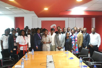 The Airtel team with the police service