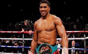 British and Nigerian boxer Anthony Joshua