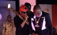 Wizkid and Davido on stage