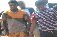 The two accused persons, Daniel Asiedu and Vincent Bosso