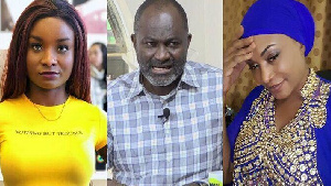 A file photo of Kennedy Agyapong, his baby mama  and daughter