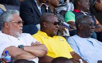 The three former Heads of States; JJ Rawlings, John Mahama and John Agyekum Kufuor