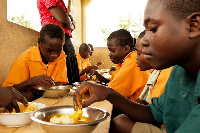 The school feeding programme provides meal to school children daily