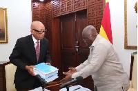 President Nana Addo Dankwa Akufo-Addo with Emile Short