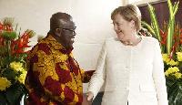 President Akufo-Addo with German Chancellor Angela Merkel