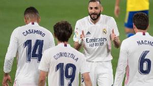 Minti 30 ana tsaka da wasa Karim Benzema ya fara ci wa Real Madrid kwallo